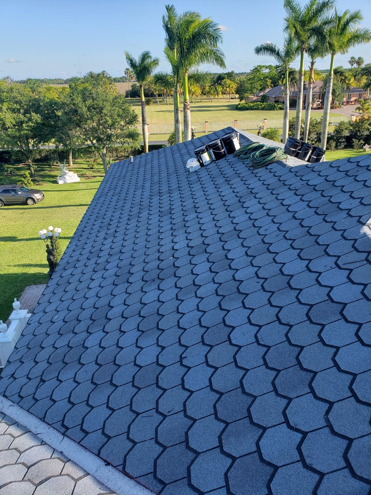 Sealed Tight Roofing - CertainTeed Carriage House Victorian Blue Quality Shingle Roof